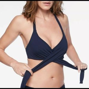 Athleta Bikini Top Navy 36 B/C Medium